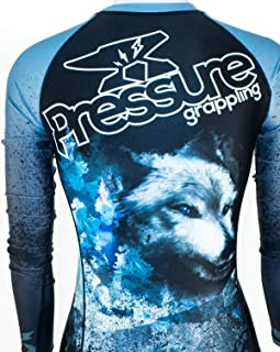 Pressure Grappling Women's Premium BJJ Long Sleeve Rash Guard with Lockdown Band