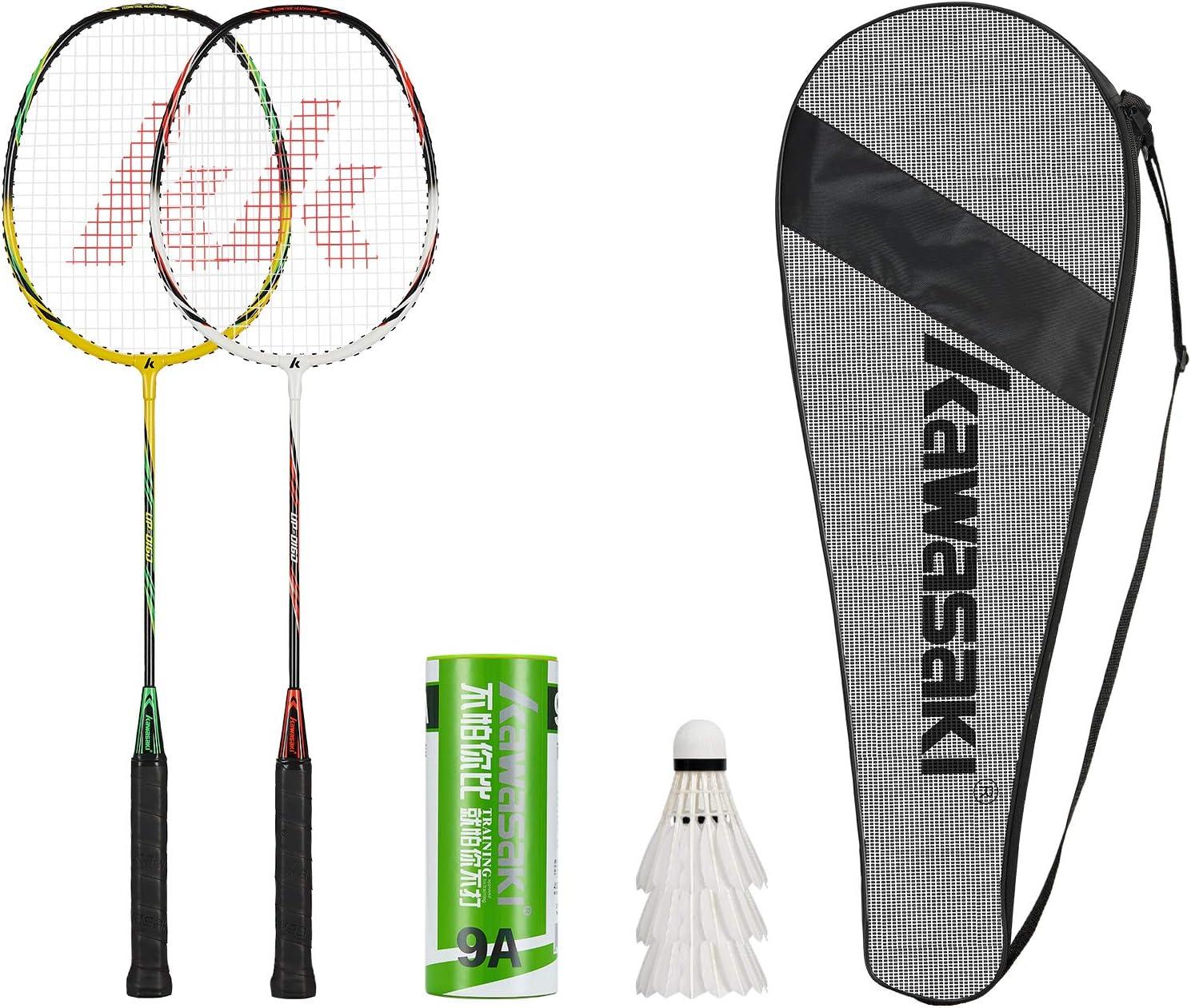 Kawasaki- 2 Player Badminton Racquets Set Rackets Double Austin Mall Aluminu Finally resale start