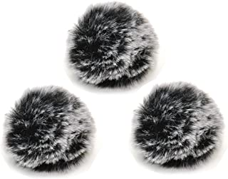 Lavalier Microphone Wind Screen Furry Muffs, 3Packs Bestshoot Diameter 1cm Fits Most Lapel Clip Lav. GoPro Microphone Comica Takstar Audio Technica ATR-3350 Pro 70 Movo Saramonica Boya (3 packs)