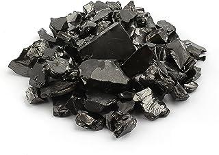 Elite Shungite Stones 100 grams Natural Crystal Shiny Silver Coloured Guaranteed Authentic Rare Stone for Water Purificati...