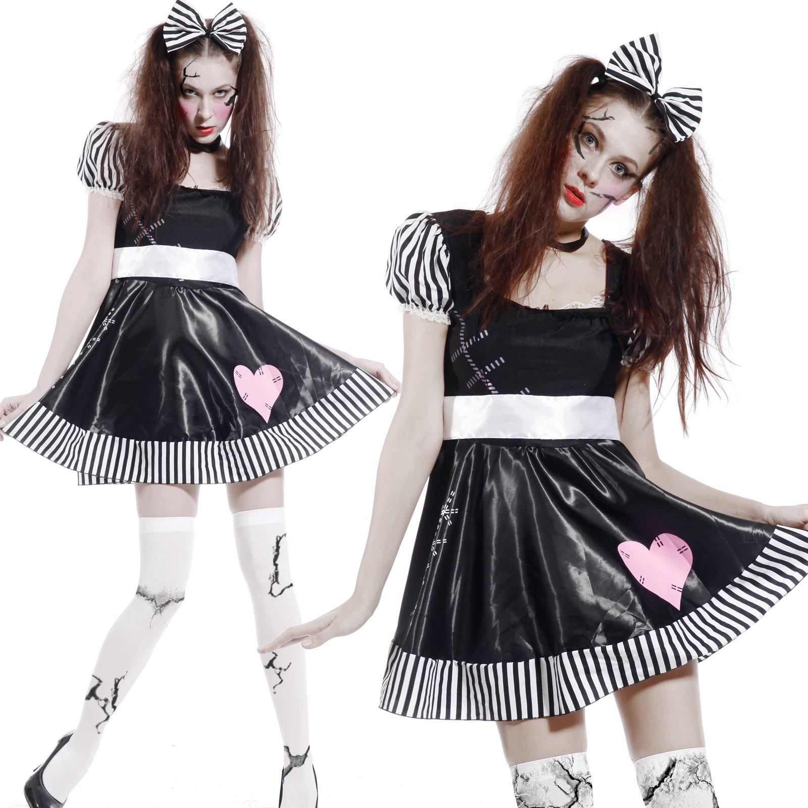 Maboobie - Disfraz de muñeca Broken Doll Zombie tenebroso para ...