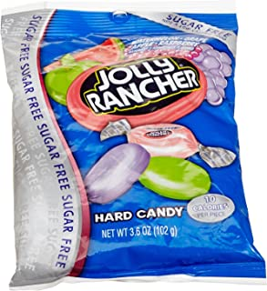 Jolly Rancher Sugar Free Hard Candy, Assorted Flavors, 3.6-Ounce Bags (Pack of 6)