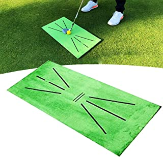 NoneBrand Golf Training Mat Portable Swing Detection Batting Mat Mini Golf Practice Training Aid Rug Golf Strike Impact m...