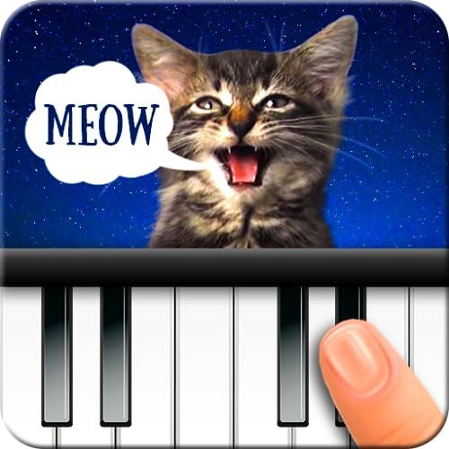 Katze Klavier. Töne-Musik