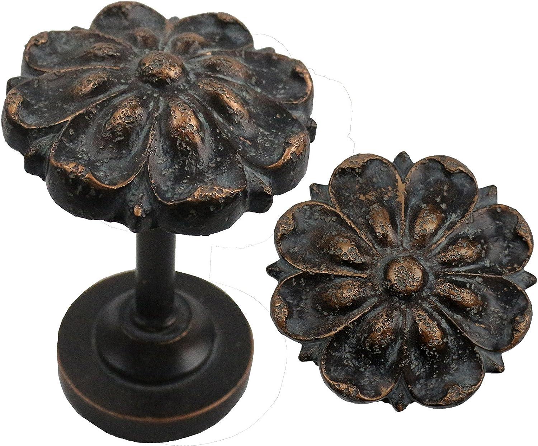 Urbanest Petals Medallion Drapery 100% quality warranty! Set Holdback Dedication Bronze Pompeii
