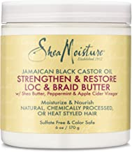 Shea Moisture Jamaican Black Castor Oil Loc & Braid Butter, 6 Ounce