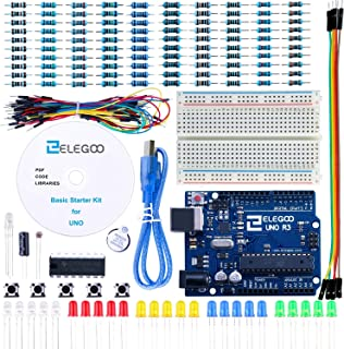 ELEGOO UNO R3 Project Basic Starter Kit with Tutorial and UNO R3 Microcontroller Compatible with Arduino IDE