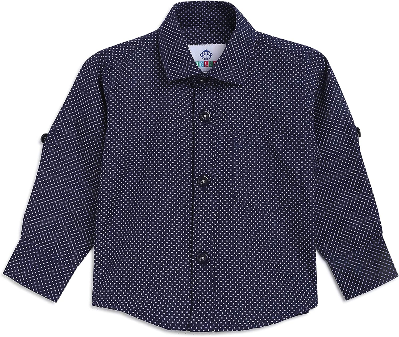 Kidling Kids Printed Fawn Cotton Blend Shirt for Boys K-316-$P