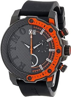 Ritmo Mundo Unisex 1201/3 Orange Quantum Sport Quartz Chronograph Carbon Fiber and Aluminum Accents Watch