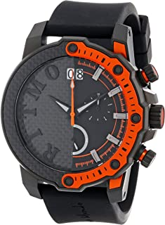 Ritmo Mundo Unisex 1201/3 Orange Quantum Sport Quartz Chronograph Carbon Fiber and Aluminum Accents Watch