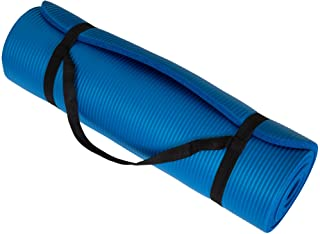"Wakeman Fitness Extra Thick Yoga Exercise Mat 71"" X 24"" X 0.5"" Blue"