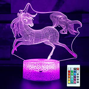 Soekidy Unicorn Gifts for Girls, Unicorn Lamp for Kids with Remote & Smart Touch, Dimmable Unicorn Light with 7 Colors+16 Colors Changing, Unicorn Toys for Girls 2 3 4 5 6 7 8 9 10 Year Old Girl Gifts