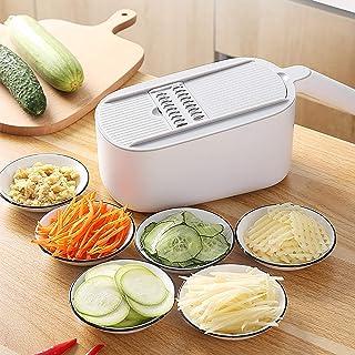 Coupe-légumes Cutter,Multifonction Hachoir à Oignon Manuel Food Cutter avec Récipient,Cuisine Trancheur de Mandoline Spira...