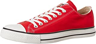 Converse Unisex Red Canvas Sneakers - 9 UK (0104192D)
