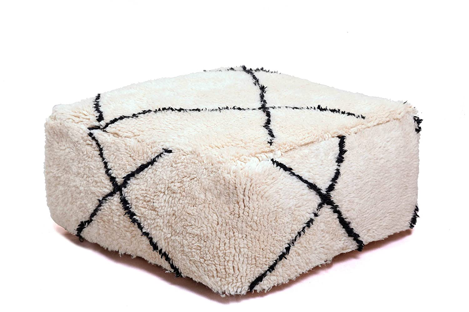 Moroccan New Beni Ouarain Floor Cover Spring new work one Max 63% OFF after another Pillow Handma Pouf Berber