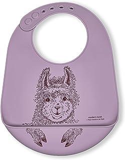 مدرن پیچ و تاب BB21 ضد آب سیلیکون قابل تنظیم سطل کودک Bib ، Llama
