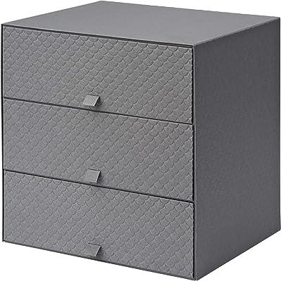 IKEA 502.724.80 Pallra - Mini cómoda con 3 cajones, Color Gris ...