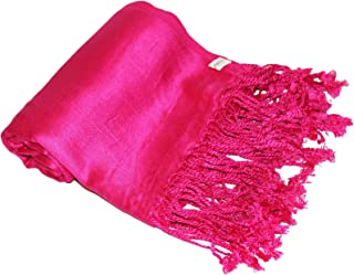 Satin Plain Pashmina Shawl Wrap Scarf.