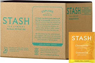 Stash Tea Chamomile Herbal Tea 100 Count Box of Tea Bags, Premium Herbal Tisane, Sweet Soothing Herbal Tea, Enjoy Hot or Iced