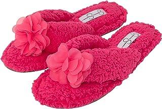 Comfort Spa Flip Flops Thong Slide On Womens Fuzzy Bedroom House Slippers