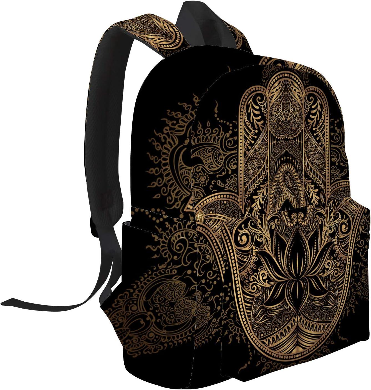 School Backpack Golden Lowe Student Rucksack Boys Girls Daypack