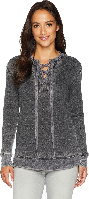 Allen Allen Womens Laceup Sweatshirt