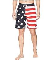 "U.S. POLO ASSN. 9"" American Flag Swim Shorts"