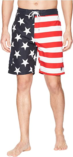 "9"" American Flag Swim Shorts"