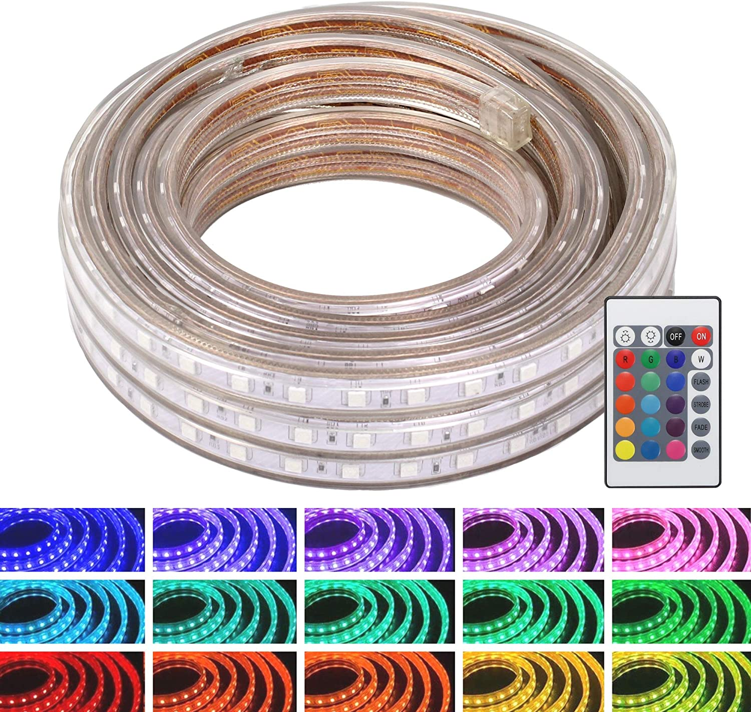 WYZworks LED Rope Lights 150ft 4 years warranty Color Strip Waterproof Changing National uniform free shipping