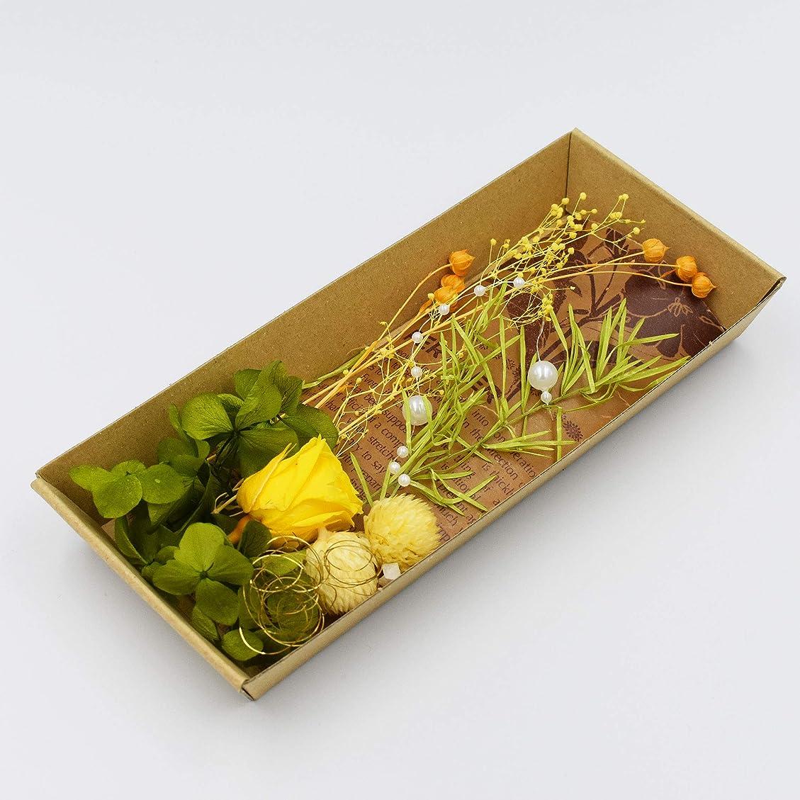 安価な太平洋諸島型ハーバリウム 花材のみ バラ あじさい かすみ草 パール プリザーブドフラワー キット (グリーン)