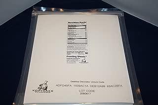 Kopykake FS0811-T Quarter Frosting Sheets (24 sheets per pack/ 8
