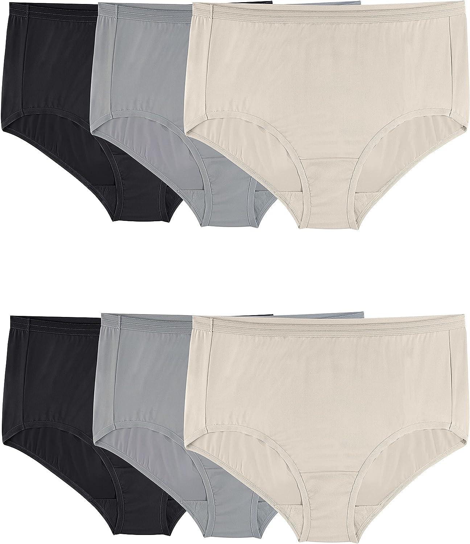 Fruit of the Loom Women's Underwear Microfiber Panties (Regular & Plus Size)