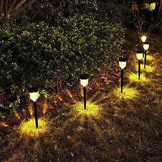 YUNLIGHTS Solar Lights Outdoor, 6 Pack Solar Pathway Lights Garden Solar Lights for Lawn, Yard, Patio, Driveway, Walkway, Warm White