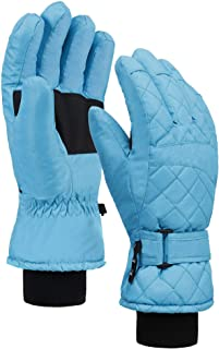 Andorra Women's Waterproof Quilted Thinsulate Insulation Snow Gloves