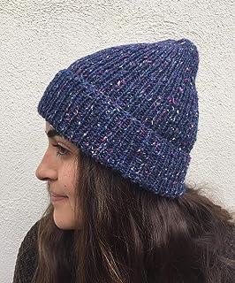 Acogedor sombrero acanalado para otoño y invierno. Gorro de pescador, beanie, slouchy, unisex. Gorro de lana y algodón, hi...