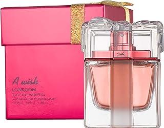 LONKOOM Perfume for Women EDP for Women Eau De Parfum Sweet-Fruity Fragrance For Women Spray A WISH RED 100ml عطر للنساء