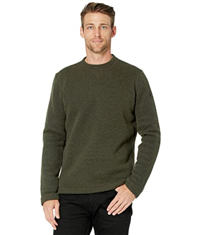 Smartwool Hudson Trail Fleece Crew Sweater (Military Olive) Men
