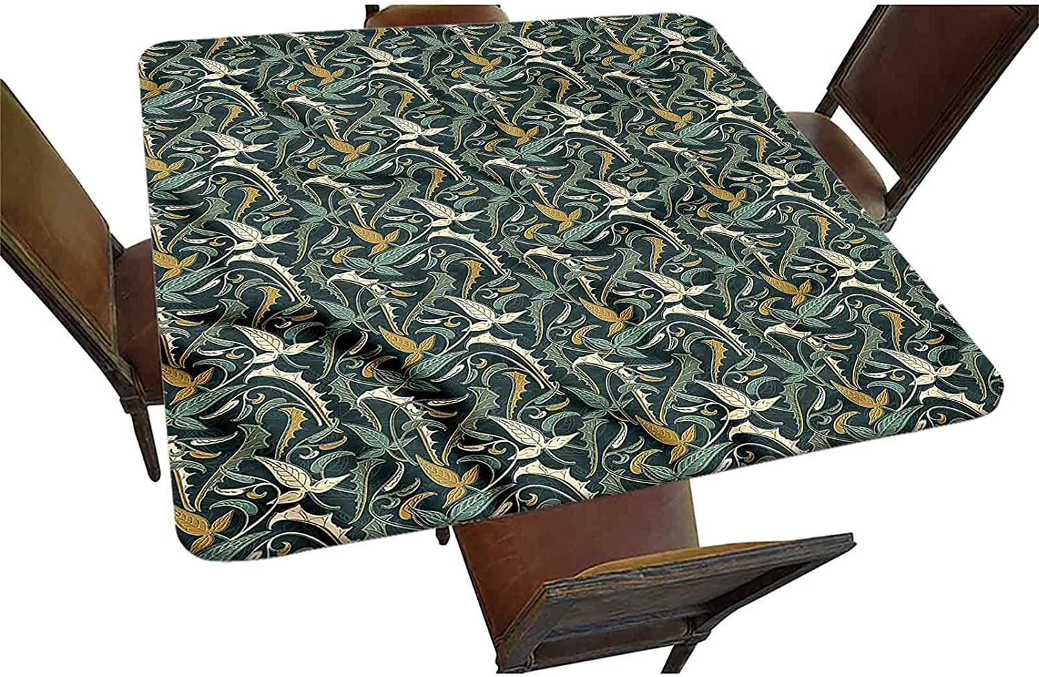 Leaves Sale Courier shipping free shipping price Decorative Elastic Edged Square Fitted Tablecloth Spring