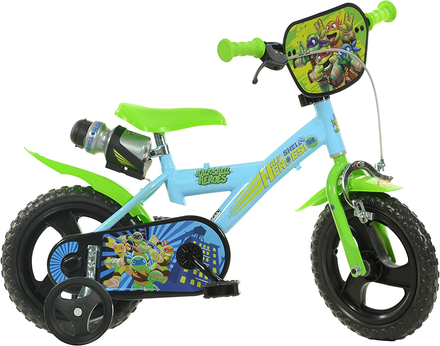 Dino Bikes 123GlHsh 12Inch Half Shell Heroes Bicycle