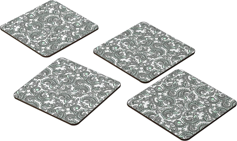 Bonamaison Coasters - Set of 4 9x9CM E Japan Maker New -Premium MDF Absorbent Max 53% OFF