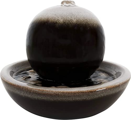 new arrival Sunnydaze wholesale Ceramic Tabletop Water Fountain with Modern Orb Design outlet online sale and Smooth Glaze Finish - Calming Water Sound - Mini Decorative Water Fountain for Home or Office - 7-Inch outlet sale