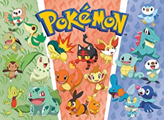 Buffalo Games - Pokemon - Partners: Grass, Fire, Water - 100 Piece Jigsaw Puzzle, Multi