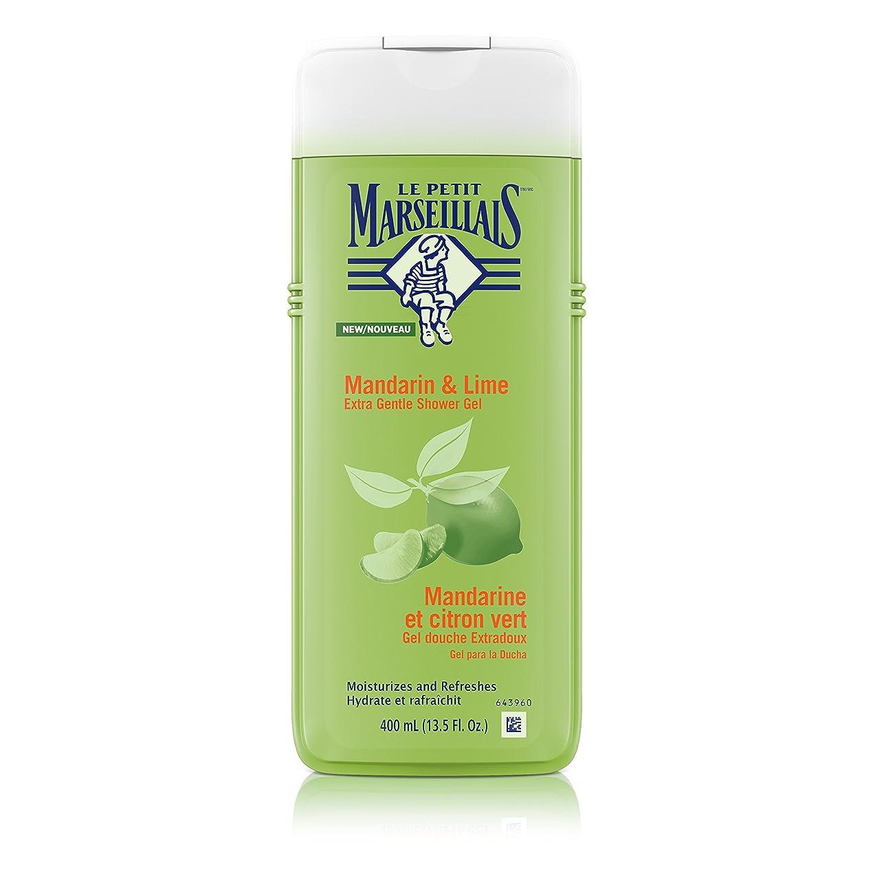 サンダー排泄物立法Le Petit Marseillais スキン中性pH、13.5フロリダのためにマンダリン&ライム、保湿&リフレッシングフランスのボディウォッシュ付きエクストラジェントルシャワージェル。オズ