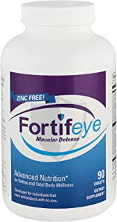 Fortifeye Vitamins Macular Defense Multivitamin, All Natural USP Verified Total Body & Vision Supplement - 30 Day Supply, ...