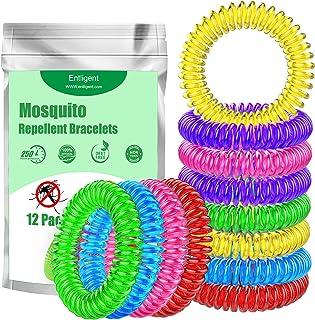 Entligent [Lot de 12] Bracelet Anti-Moustique, Bracelets Anti-Moustiques 100% Naturel-..