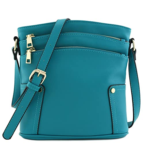 43f5ac0153 Triple Zip Pocket Medium Crossbody Bag
