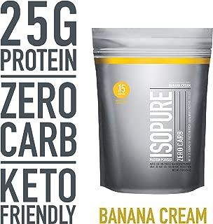 Isopure Zero Carb, Keto Friendly Protein Powder, 100% Whey Protein Isolate, Flavor: Banana Cream, 1 Pound