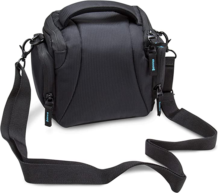 BODYGUARD 5* Estuche para cámera Negro - Adecuado para Sony Alpha 6000 6300 6500 DSC-HX400V Canon EOS M100 Canon EOS M10 Canon EOS M3 Nikon Coolpix B700 Panasonic Lumix DMC-FZ72 DMC-FZ300