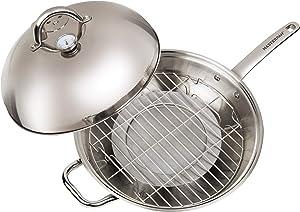"""Master Pan MasterWok Multi-Use Wok, 13"""", Stainless Steel"""