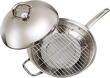 "Master Pan MasterWok Multi-Use Wok, 13"", Stainless Steel"